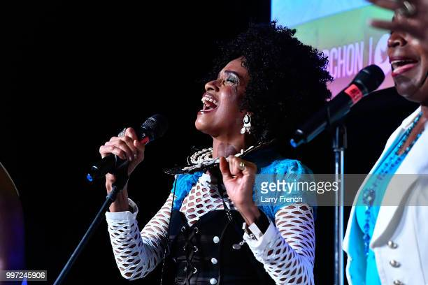 Aisha Kahlil of Sweet Honey In the Rock performs at the opening night of March On Washington Film Festival on July 12 2018 in Washington DC