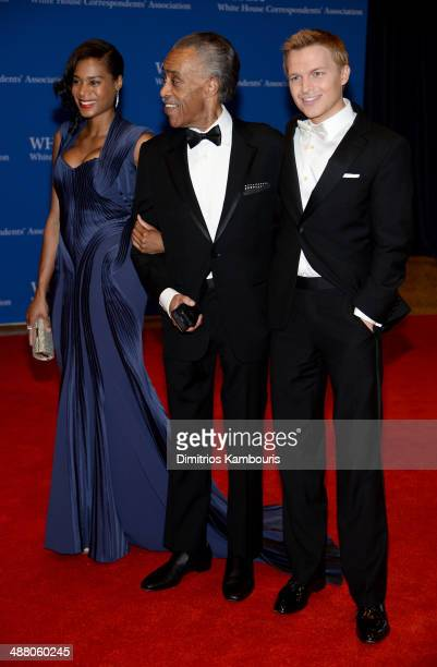 Aisha McShaw Al Sharpton and Ronan Farrow attend the 100th Annual White House Correspondents' Association Dinner at the Washington Hilton on May 3...