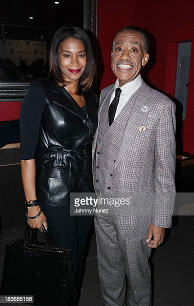 Aisha McShaw and Al Sharpton attend Reverend Al Sharpton Rejected Stone Al Sharpton And The Path To American Leadership Book Reception at Stage 48 on...