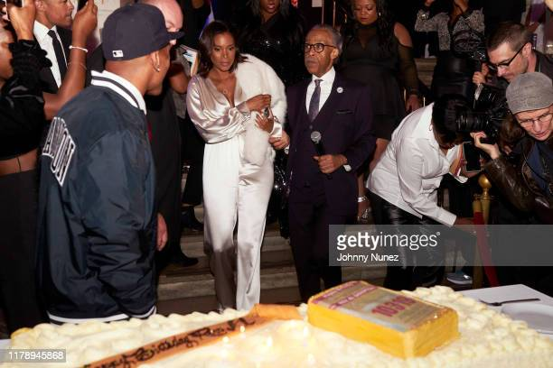 Aisha McShaw and Reverend Al Sharpton attend Reverend Al Sharpton's 65th Birthday Celebration at New York Public Library on October 03 2019 in New...