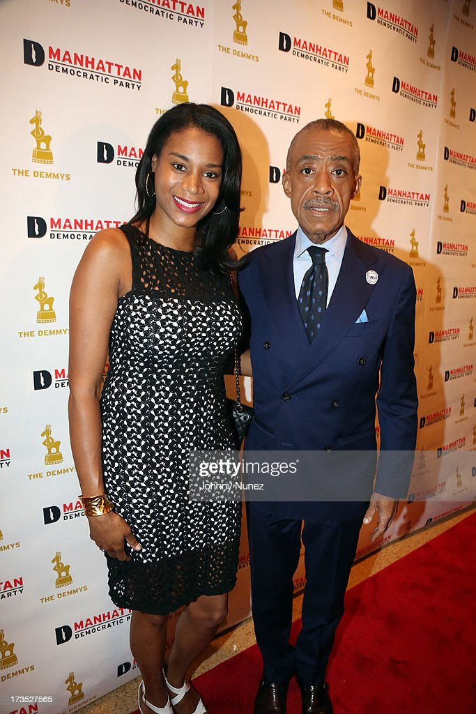 Aisha McShaw and Reverend Al Sharpton attend the New York County Democratic Committee Award Ceremony at American Airlines Theater on July 15, 2013 in New York City.
