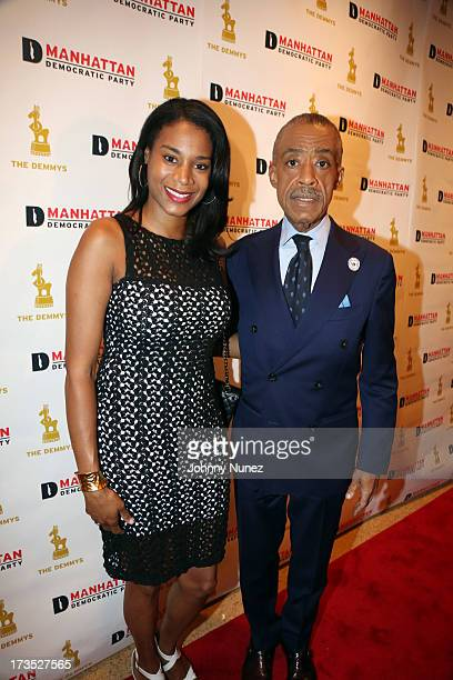 Aisha McShaw and Reverend Al Sharpton attend the New York County Democratic Committee Award Ceremony at American Airlines Theater on July 15 2013 in...