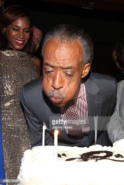 Aisha McShaw and Reverend Al Sharpton celebrate Al Sharpton's 60th birthday at Four Seasons Hotel New York on October 1 2014 in New York City
