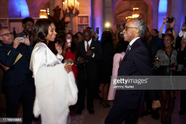 Aisha McShaw and Reverend Al Sharpton celebrate Reverend Al Sharpton's 65th birthday at New York Public Library on October 03 2019 in New York City