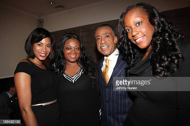 Aisha McShaw Ashley Sharpton Rev Al Sharpton and Dominique Sharpton celebrate Rev Al Sharpton's birthday at Philippe Chow on October 4 2012 in New...