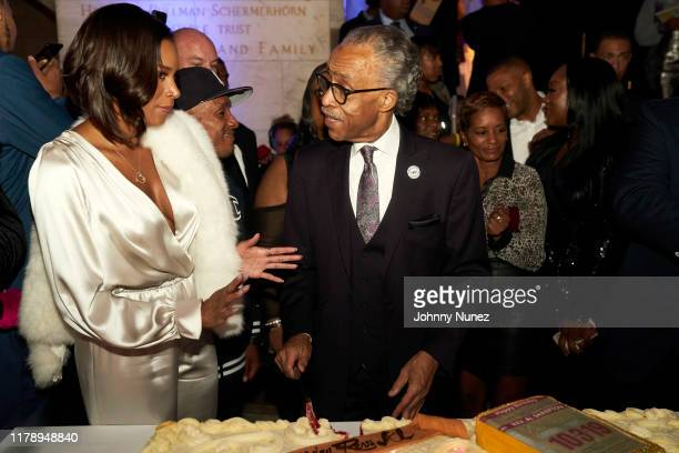 Aisha McShaw Korey Wise Reverend Al Sharpton Rachel Noerdlinger and Dominique Sharpton attend Reverend Al Sharpton's 65th Birthday Celebration at New...