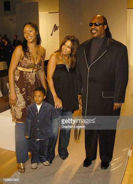 Aisha Morris Kailand Morris Kai Milla and Stevie Wonder