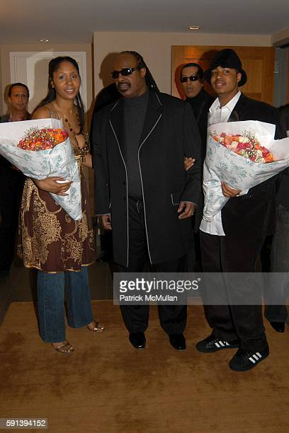 Aisha Morris Stevie Wonder and Kwame Morris attend Private Dinner in Celebration of Kai Milla's Debut Fashion ShowLe Parker Meridien on February 10...