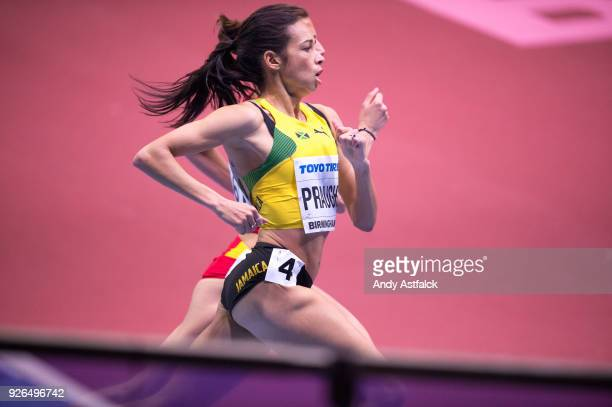 Aisha Praught of Jamaica in action during Round 1 of the Women's 1500m on Day 2 of the IAAF World Indoor Championships at Arena Birmingham on March 2...