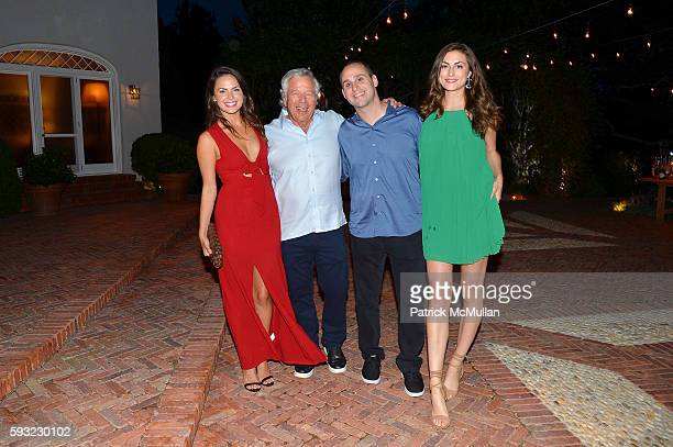 Aisha Topicz Robert Kraft Michael Rubin and Camille Fishel attend the Apollo in the Hamptons 2016 party at The Creeks on August 20 2016 in East...