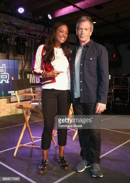 Aisha Tyler and Ben Mendelsohn attend Ready Player One LIVE at SXSW Powered by Twitch and IMDb on March 11 2018 in Austin Texas