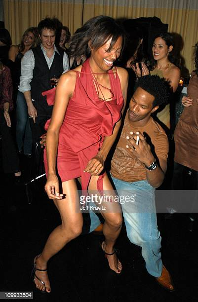 Aisha Tyler and Jamie Foxx during Confessions of a Dangerous Mind After Party at The W Hotel in Westwood CA United States