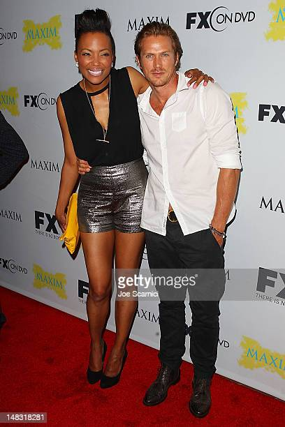 Aisha Tyler and Jason Lewis arrive at the ComicCon International 2012 FX Maxim And Fox Home Entertainment Red Carpet Event at Andaz on July 13 2012...
