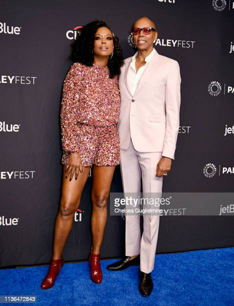 Aisha Tyler and RuPaul attend the Paley Center for Media's 2019 PaleyFest LA RuPaul's Drag Race at Dolby Theatre on March 17 2019 in Hollywood...
