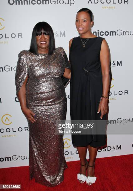 Aisha Tyler and Tiffany R. Warren attend the 11th annual ADCOLOR Awards at Loews Hollywood Hotel on September 19, 2017 in Hollywood, California.