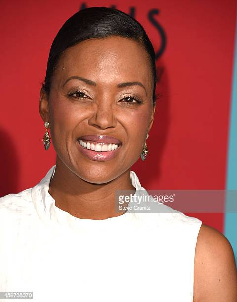 Aisha Tyler arrives at the American Horror Story Freak Show Los Angeles Premiere at TCL Chinese Theatre IMAX on October 5 2014 in Hollywood California