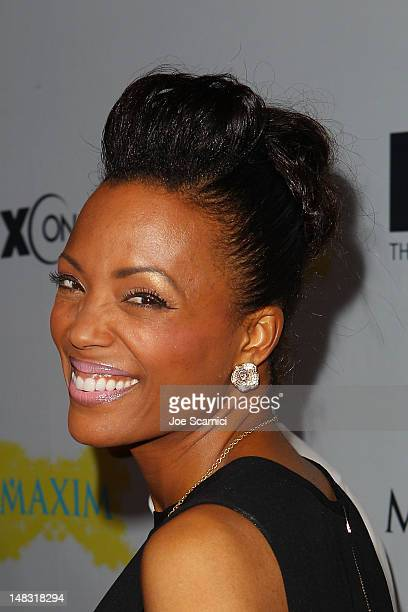 Aisha Tyler arrives at the ComicCon International 2012 FX Maxim And Fox Home Entertainment Red Carpet Event at Andaz on July 13 2012 in San Diego...