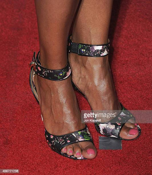 Aisha Tyler arrives at the Los Angeles Premiere American Horror Story Freak Show at TCL Chinese Theatre IMAX on October 5 2014 in Hollywood California