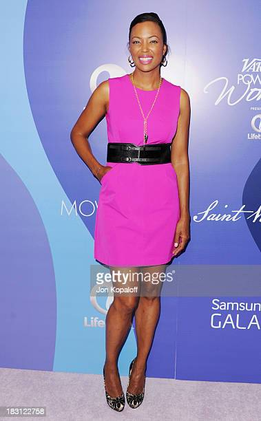 Aisha Tyler arrives at Variety's 5th Annual Power Of Women Event at the Beverly Wilshire Four Seasons Hotel on October 4 2013 in Beverly Hills...
