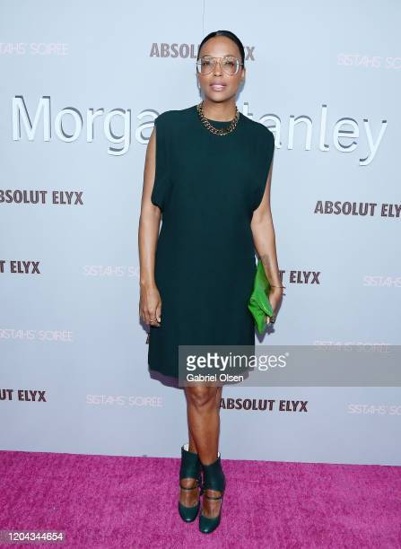 Aisha Tyler attends Alfre Woodard's 11th Annual Sistahs' Soirée at The Private Residence of Jonas Tahlin CEO of Absolut Elyx on February 05 2020 in...