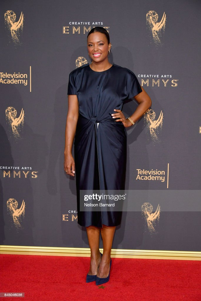 Aisha Tyler attends day 1 of the 2017 Creative Arts Emmy Awards at Microsoft Theater on September 9, 2017 in Los Angeles, California.