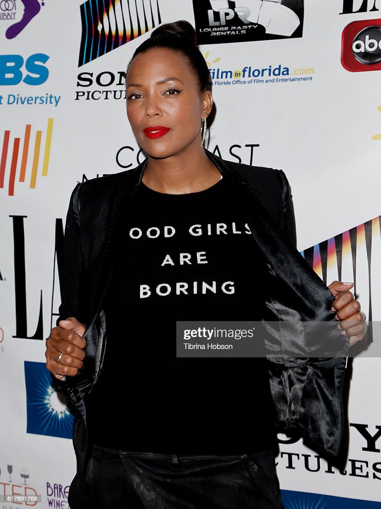 Aisha Tyler attends the 12th annual La Femme International Film Festival closing ceremony at The Los Angeles Theatre Center on October 23, 2016 in Los Angeles, California.