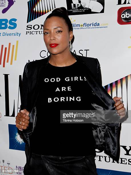 Aisha Tyler attends the 12th annual La Femme International Film Festival closing ceremony at The Los Angeles Theatre Center on October 23 2016 in Los...