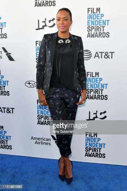 Aisha Tyler attends the 2019 Film Independent Spirit Awards on February 23 2019 in Santa Monica California