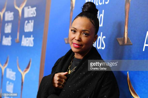 Aisha Tyler attends the 2020 Writers Guild Awards West Coast Ceremony at The Beverly Hilton Hotel on February 01 2020 in Beverly Hills California