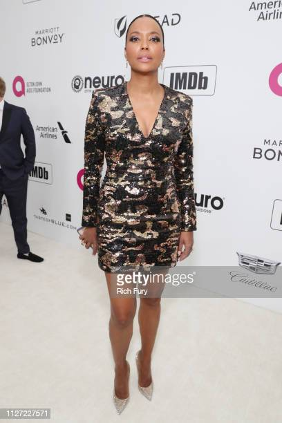 Aisha Tyler attends the 27th annual Elton John AIDS Foundation Academy Awards Viewing Party sponsored by IMDb and Neuro Drinks celebrating EJAF and...