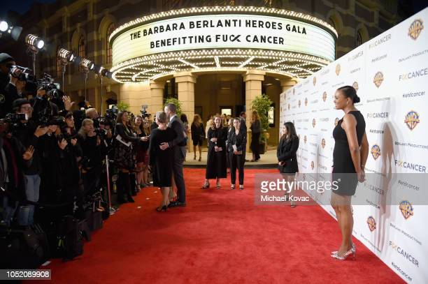 Aisha Tyler attends the Barbara Berlanti Heroes Gala Benefitting FCancer at Warner Bros Studios on October 13 2018 in Burbank California