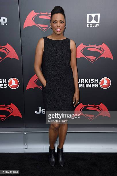 Aisha Tyler attends the Batman V Superman Dawn Of Justice New York Premiere at Radio City Music Hall on March 20 2016 in New York City