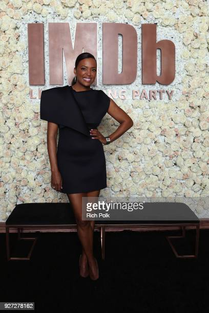 Aisha Tyler attends the IMDb LIVE Viewing Party on March 4 2018 in Los Angeles California