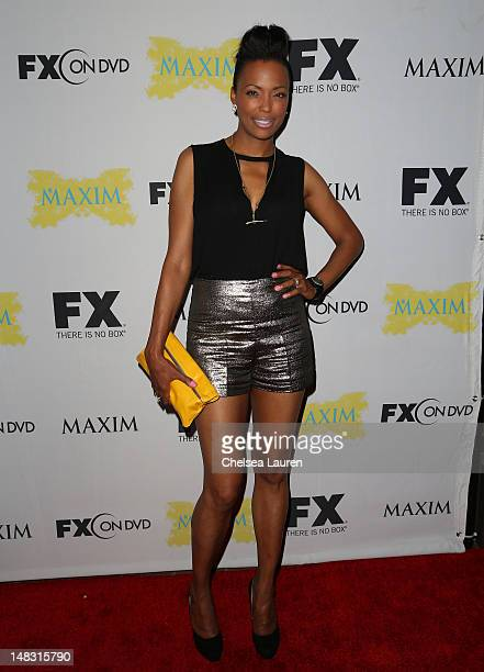 Aisha Tyler attends the Maxim FX and Fox Home Entertainment ComicCon Party at Andaz on July 13 2012 in San Diego California