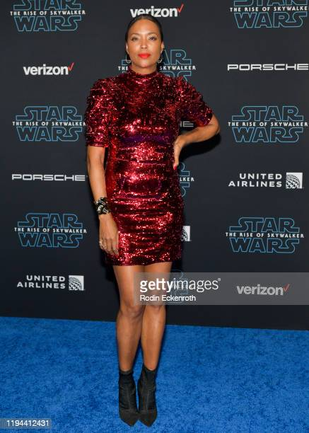 Aisha Tyler attends the Premiere of Disney's Star Wars The Rise Of Skywalker on December 16 2019 in Hollywood California