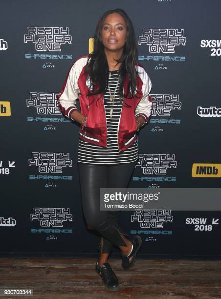 Aisha Tyler attends the Ready Player One party hosted by IMDb and Twitch at Brazos Hall on March 12 2018 in Austin Texas