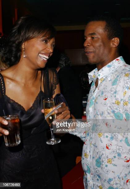 Aisha Tyler & David Alan Grier during Playstation 2 Hosts the Movieline Young Hollywood Awards After-Party in Los Angeles, California, United States.