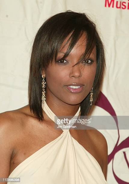 Aisha Tyler during 2002 VH1 Vogue Fashion Awards Arrivals at Radio City Music Hall in New York City New York United States