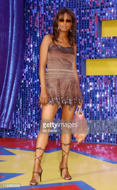 Aisha Tyler during 2003 MTV Movie Awards Arrivals at The Shrine Auditorium in Los Angeles California United States
