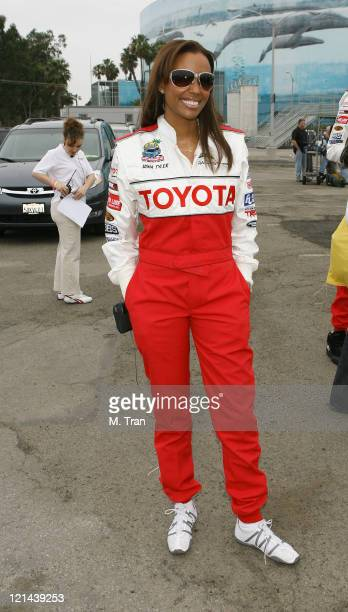 Aisha Tyler during 31st Annual Toyota Pro/Celebrity Race Press Day at Downtown in Long Beach California United States