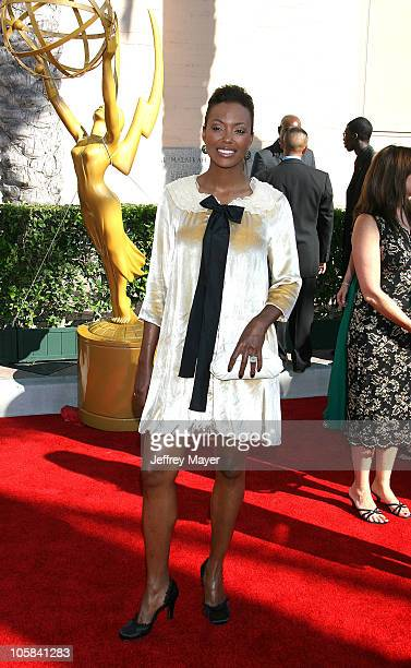 Aisha Tyler during 58th Annual Creative Arts Emmy Awards Arrivals at Shrine Auditorium in Los Angeles California United States