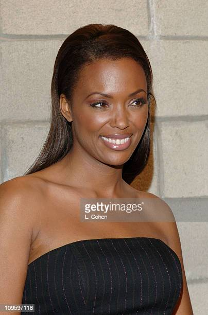 Aisha Tyler during CBS/Paramount/UPN/Showtime/King World 2006 TCA Winter Press Tour Party Red Carpet at The Wind Tunnel in Pasadena California United...