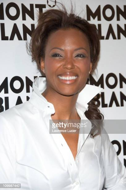 Aisha Tyler during Claire Danes Hosts Montblanc 100th Anniversary Diamond Launch March 14 2006 at New Space in New York City New York United States