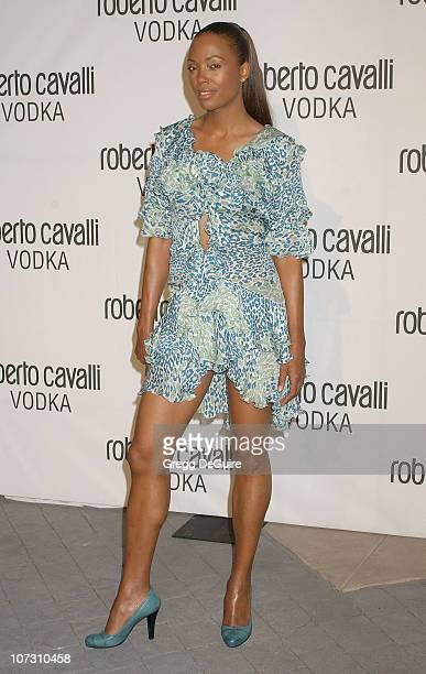 Aisha Tyler during Fashion Designer Roberto Cavalli Celebrates The Launch Of Roberto Cavalli Vodka Arrivals at Private Residence in Holmby Hills...