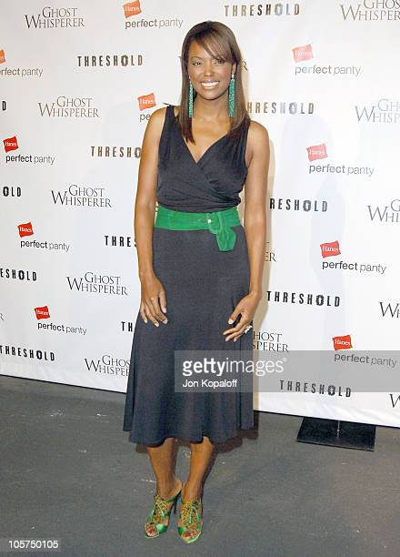 Aisha Tyler during Ghost Whisperer and Threshold Premiere Screenings at The Hollywood Forever Cementary in Hollywood California United States