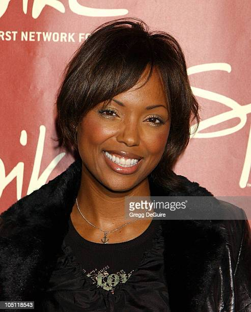 Aisha Tyler during Launch of Spike TV at the Playboy Mansion at Playboy Mansion in Los Angeles California United States