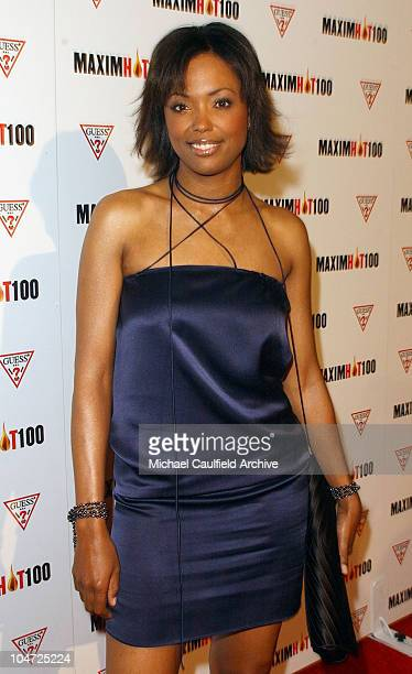 Aisha Tyler during Maxim Hot 100 Party Arrivals at Yamashiro in Hollywood California United States
