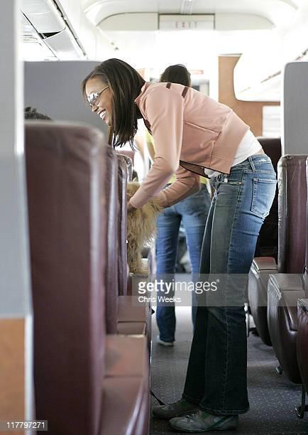 Aisha Tyler during Maxim Magazine Hot 100 Jet to Las Vegas at Mercury Air Center in Burbank California United States