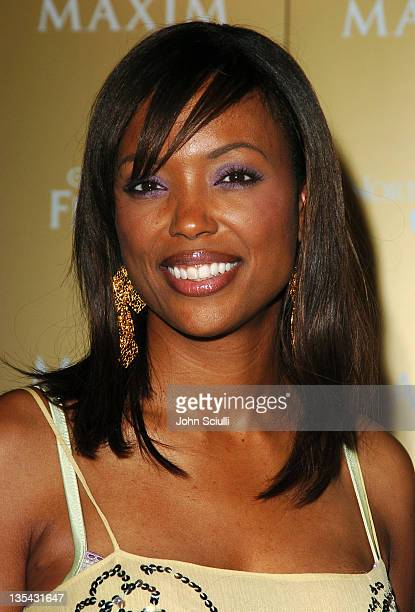 Aisha Tyler during Maxim Magazine Hot 100 Party in Celebration of the Grand Opening of Body English In the Hard Rock Hotel Casino Red Carpet at Hard...