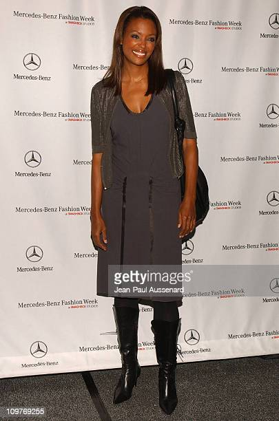 Aisha Tyler during MercedesBenz Spring 2006 LA Fashion Week at Smashbox Studios Day 4 Arrivals at Smashbox Studios in Culver City California United...
